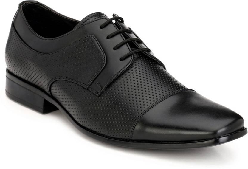 Footlodge Office wear Formal Shoes Derby For Men - Buy Black Color ... 239c701d070