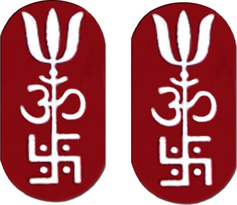 Ratnatraya Set Of Two Om Swastik Trishul Metal Trishakti Wallet