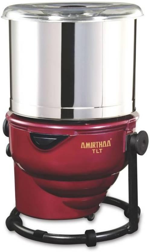 Amirthaa Tlt Tilting Tabletop Wet Grinder Wine Red Maroon