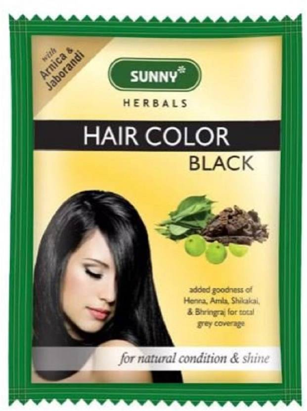Bakson Sunny Herbals Hair Colour Black Pack Of 12 Hair Color
