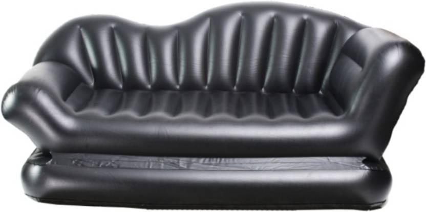Telebrands Sofa Cum Bed Air Lounge Pvc Air Multipurpose Black Airsofa Double Bed Kids Sleeping