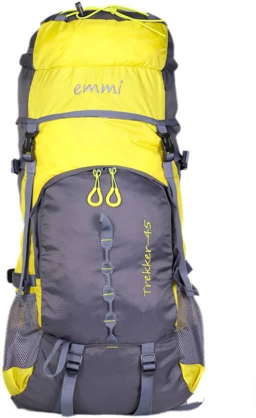 55b14953a6a7 EMMI BAGS Trekker 45 Liters Rucksack - 45 L Yellow - Price in India ...