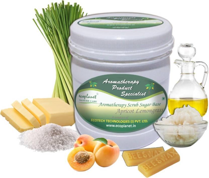 ecoplanet Aromatherapy Scrub Sugar Base Apricot Lemongrass Scrub