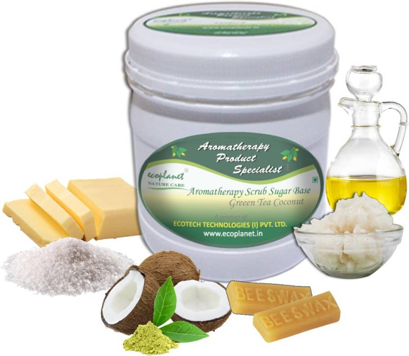 ecoplanet Aromatherapy Scrub Sugar Base Green Tea Coconut Scrub