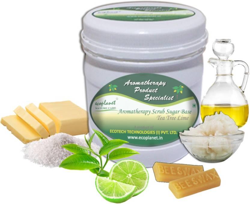 ecoplanet Aromatherapy Scrub Sugar Base Tea Tree Lime Scrub