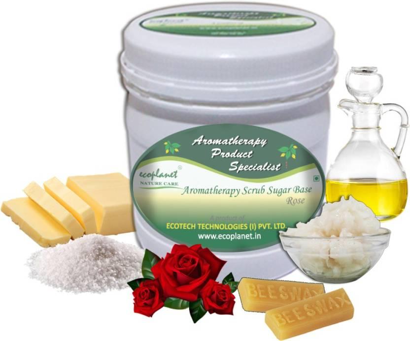 ecoplanet Aromatherapy Scrub Sugar Base Rose Scrub