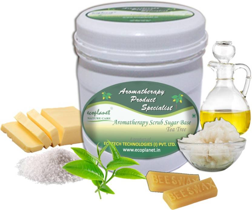 ecoplanet Aromatherapy Scrub Sugar Base Tea Tree Scrub