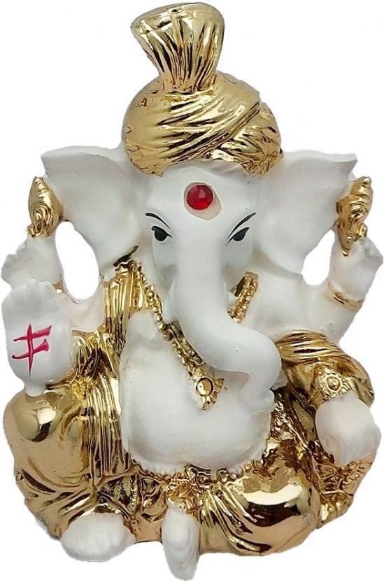 4b95fc61799 Luxe Mart God Shri Ganesh Car Dashboard Statue Lord Ganesha Idol - Statue  Gift item Showpiece Decorative Showpiece - 8 cm (Earthenware