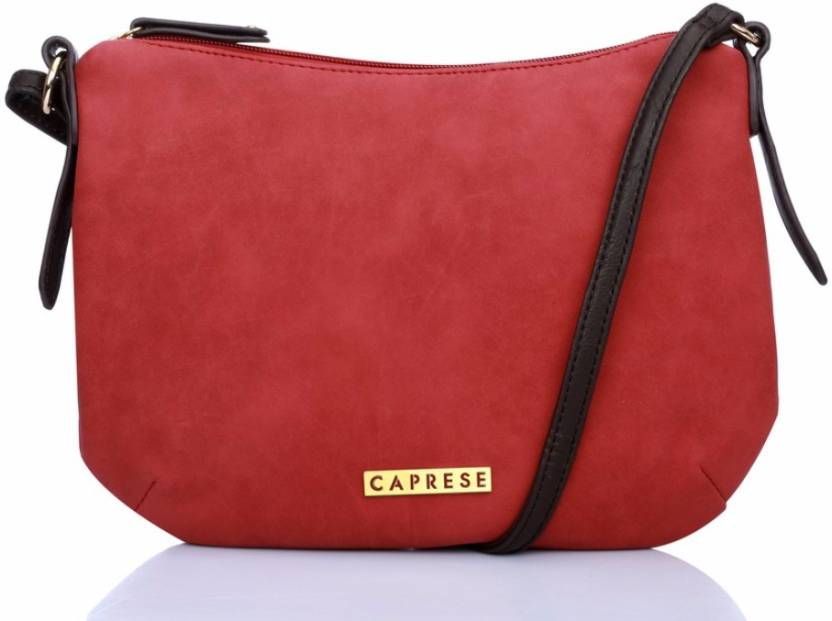3a699bff93 Caprese Women Casual Pink Leatherette Sling Bag Pink - Price in India |  Flipkart.com
