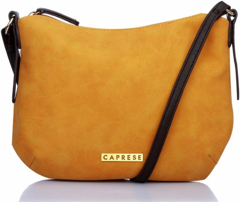 1b2da0cf16 Caprese Women Casual Yellow Leatherette Sling Bag Ochre - Price in India