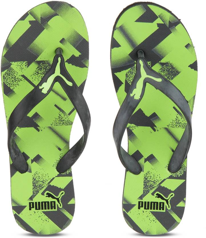 6316f86e897 Puma Slippers - Buy Puma Black-Asphalt-Green Gecko Color Puma Slippers  Online at Best Price - Shop Online for Footwears in India