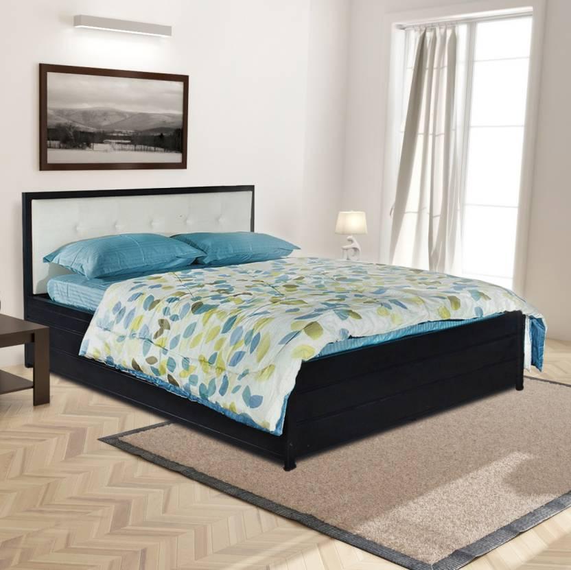 FurnitureKraft Shanghai Metal Queen Bed With Storage