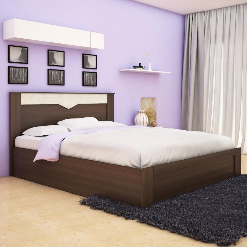 Spacewood Crescent Engineered Wood Queen Box Bed
