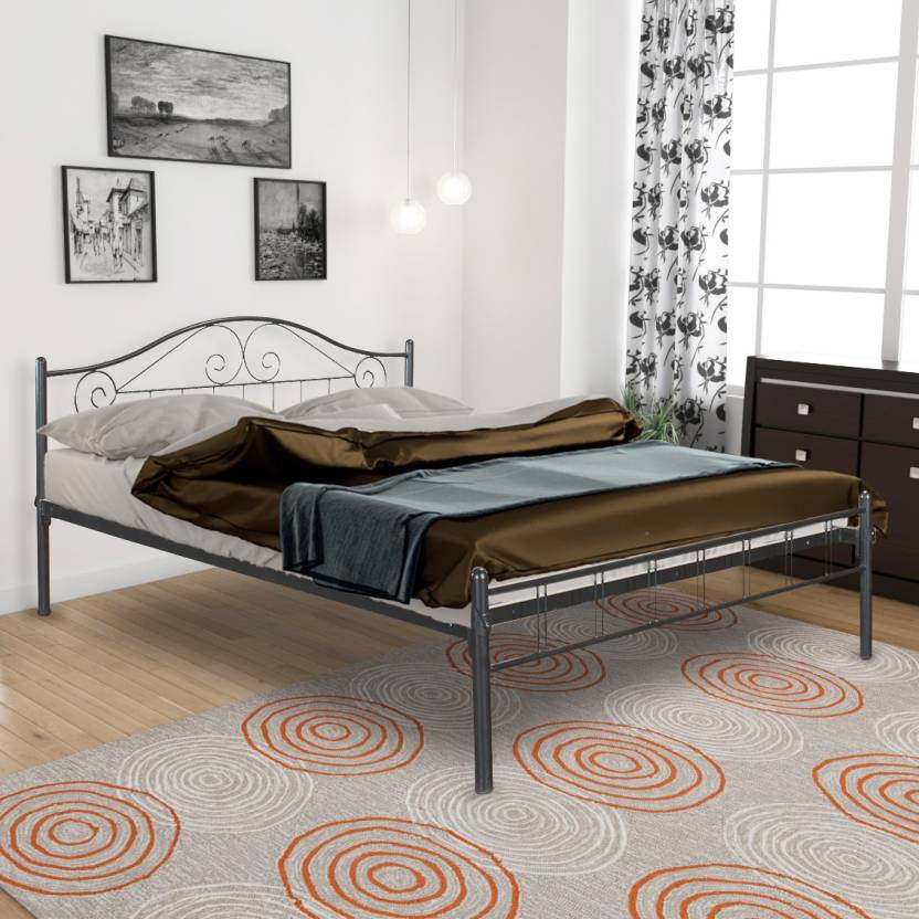 FurnitureKraft Geneva Metal Queen Bed