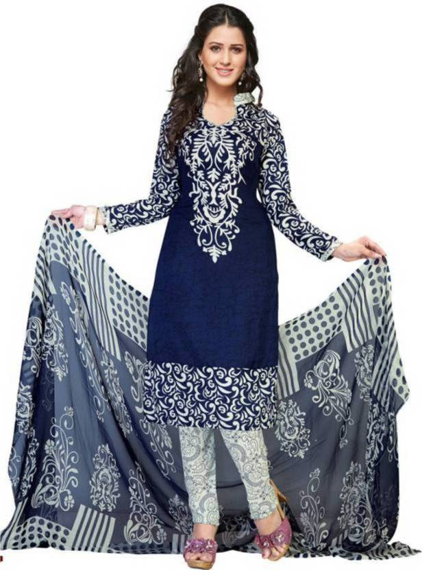 Fashion On Sky Crepe Printed Salwar Suit Dupatta Material(Un-stitched)