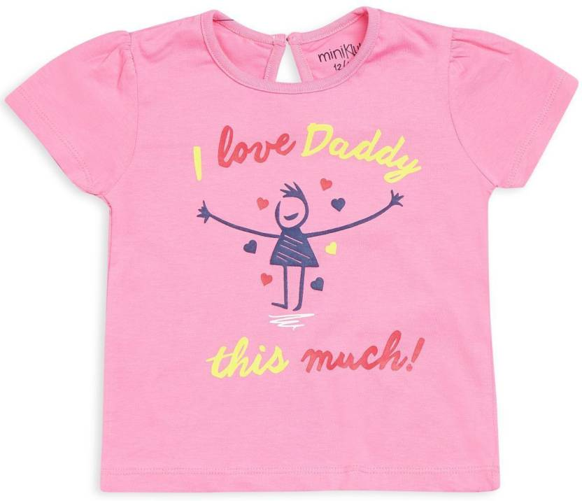 56070e0ad0f20 Mini Klub Girls Printed Cotton T Shirt Price in India - Buy Mini ...