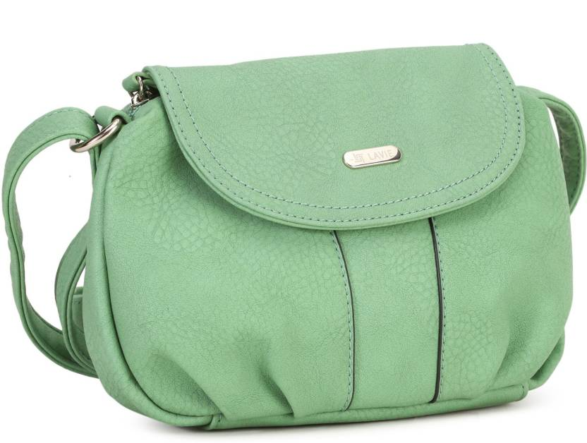 4dbfcd8a04a Lavie Women Casual Green PU Sling Bag LT.GREEN - Price in India ...