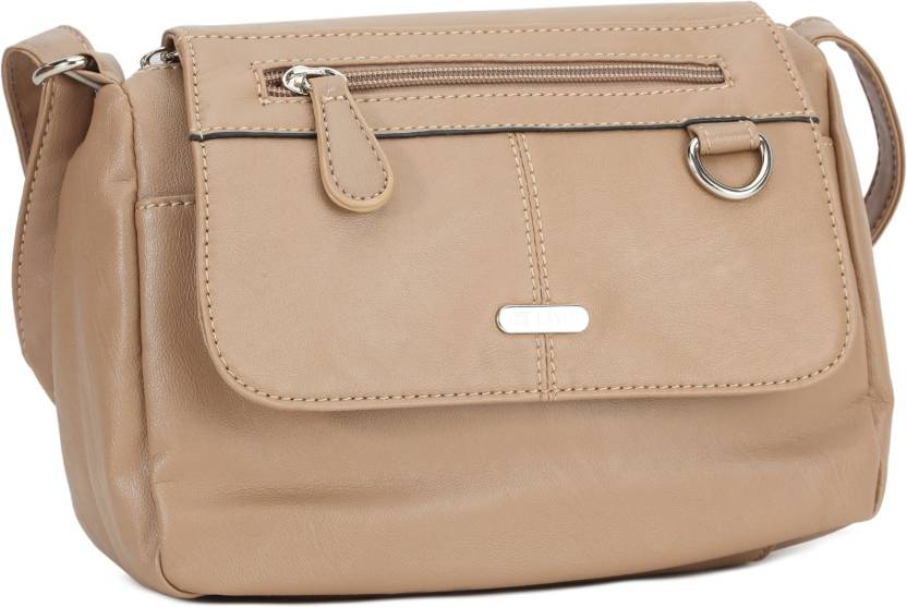8bf4387f67c Lavie Women Formal Khaki PU Sling Bag KHAKI - Price in India ...