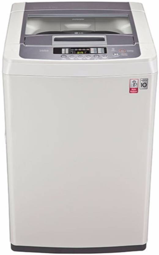 LG 6.2 kg Fully Automatic Top Load Washing Machine White, Silver