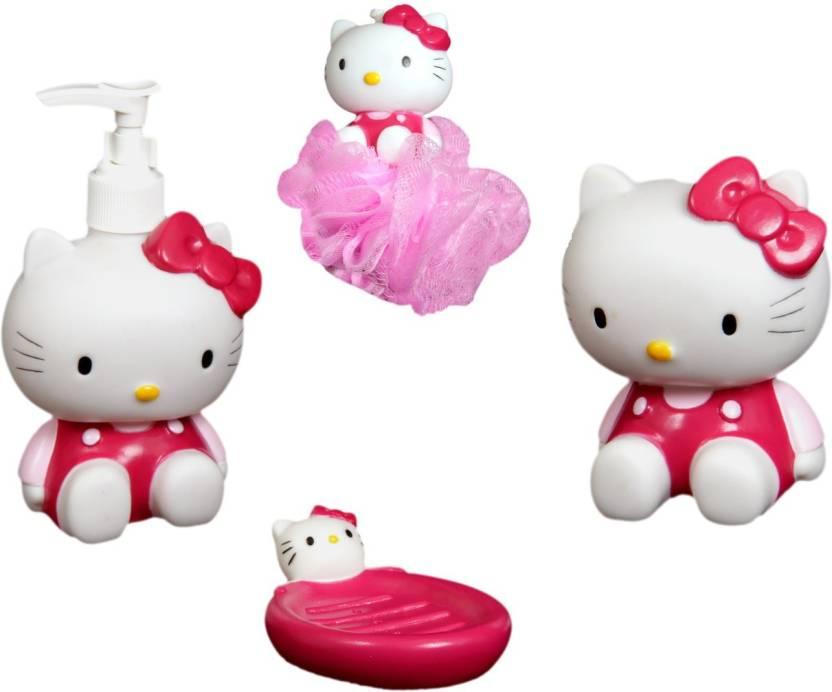 Fullhouz Hello Kitty Pack Of 4 Bathroom Set Bath Toy