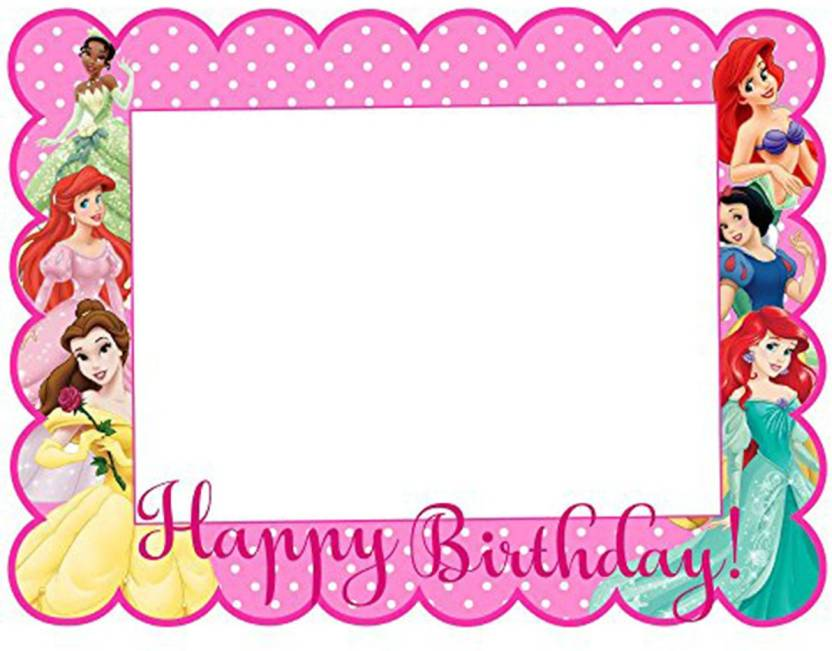 PARTY PROPZ Multicolor PHOTO BOOTH FRAME 2FT PACK OF 1/ PRINCESS ...