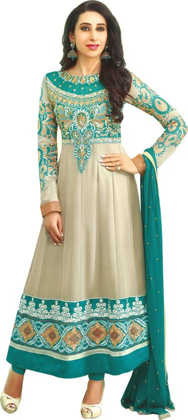 c6dc11db4047 Reya Georgette Embroidered Semi-stitched Salwar Suit Dupatta Material