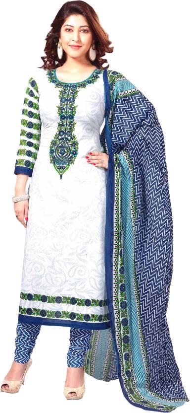 Reya Cotton Printed, Chevron Dress/Top Material