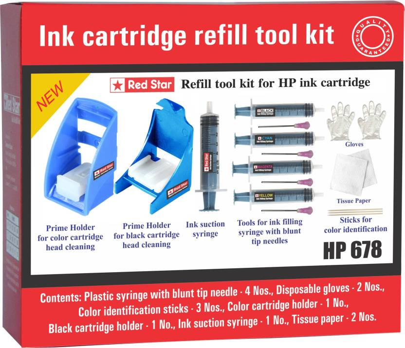 red star ink refill tool kit for hp 678 cartridge Multi Color Ink Cartridge