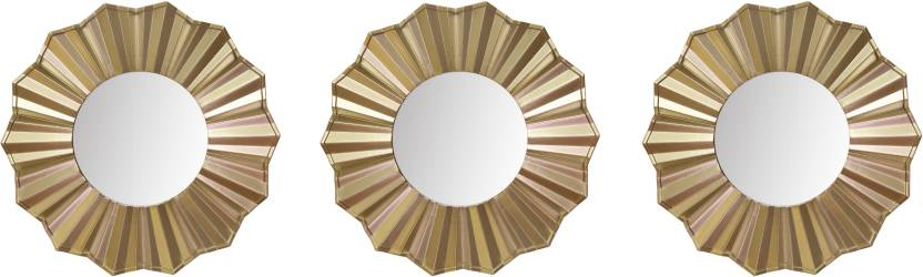 Hosley Set Of 3 Decorative Gold Wall Mirror Decorative Mirror Price