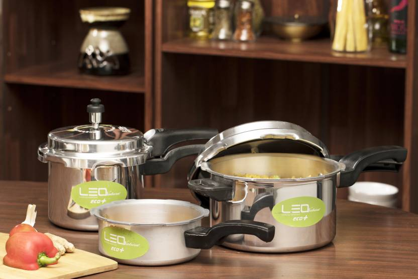 Leo Natura Eco + 2 L, 3 L, 5 L Pressure Cooker with Induction Bottom