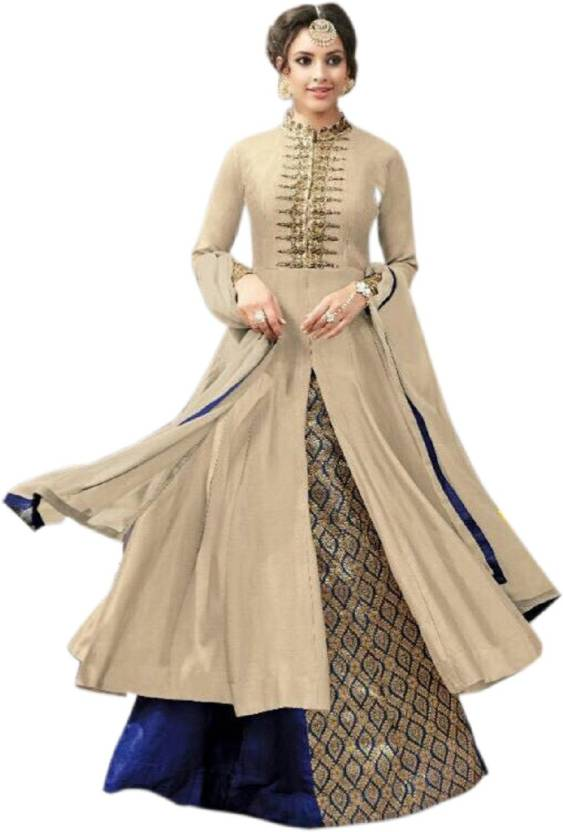 Julee Cotton Embroidered Semi-stitched Salwar Suit Dupatta Material