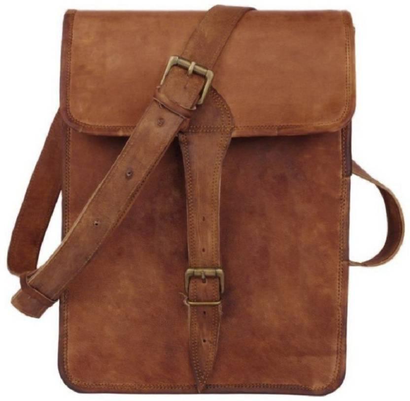 46874be1d Anshika International Boys & Girls Formal Brown Genuine Leather Shoulder Bag  dark brown - Price in India | Flipkart.com