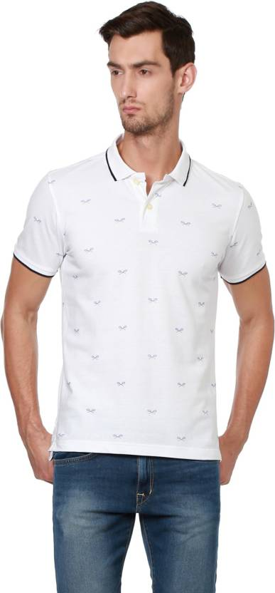 People Printed Men Polo Neck White T-Shirt - Buy White People ... d99fa36b06521