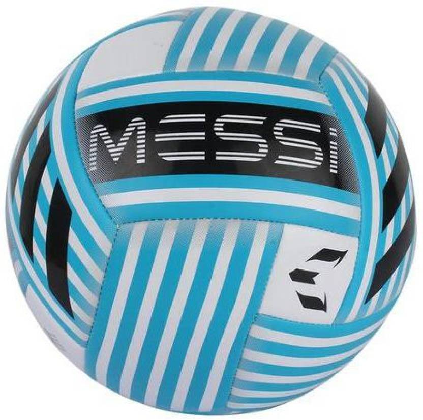 new products 634f2 b753c ADIDAS Messi Glider Football - Size  5 (Pack of 1, White)
