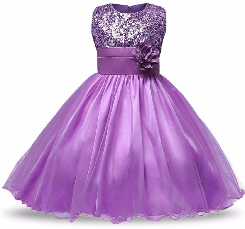 The Nightingales Girls Maxi/Full Length Party Dress Price in India ...