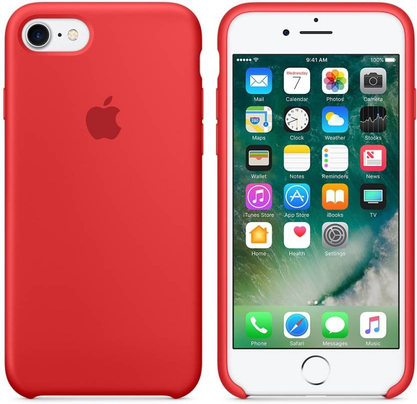 TDG Back Cover for Apple iPhone 7 Red, Silicon
