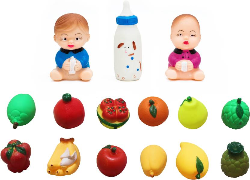 GLOOVIT Squeezy Bath toys Dear Baby and Fruits Bath Toy - Squeezy ...