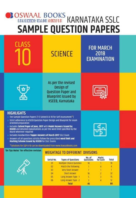 Oswaal karnataka sslc sample question papers for class 10 science oswaal karnataka sslc sample question papers for class 10 science march 2018 exam malvernweather Images