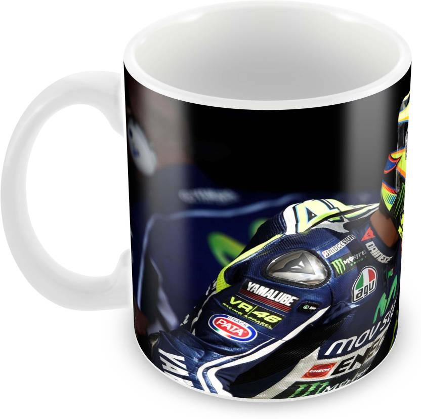 Tuelip Printed VR-46 Valentino Rossi Tea & Coffee 350 ML Ceramic Mug (350 ml)