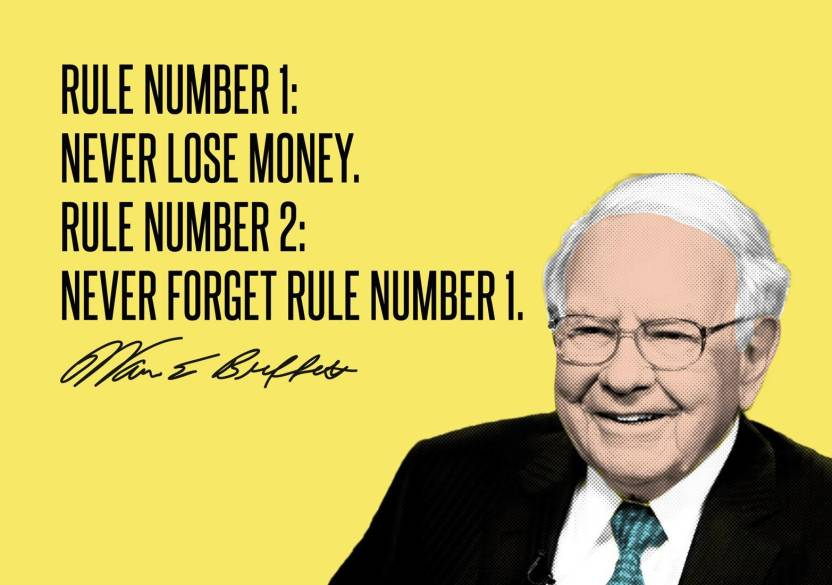 Image result for never lose money warren buffett