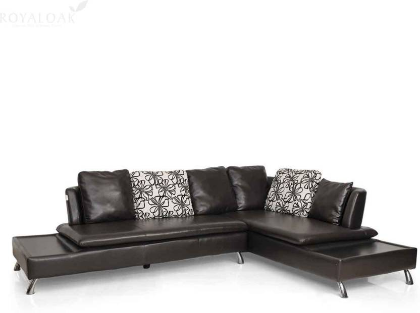 d2e1a1dc775 RoyalOak Aster Leatherette 3 + 1 Brown Sofa Set Price in India - Buy  RoyalOak Aster Leatherette 3 + 1 Brown Sofa Set online at Flipkart.com