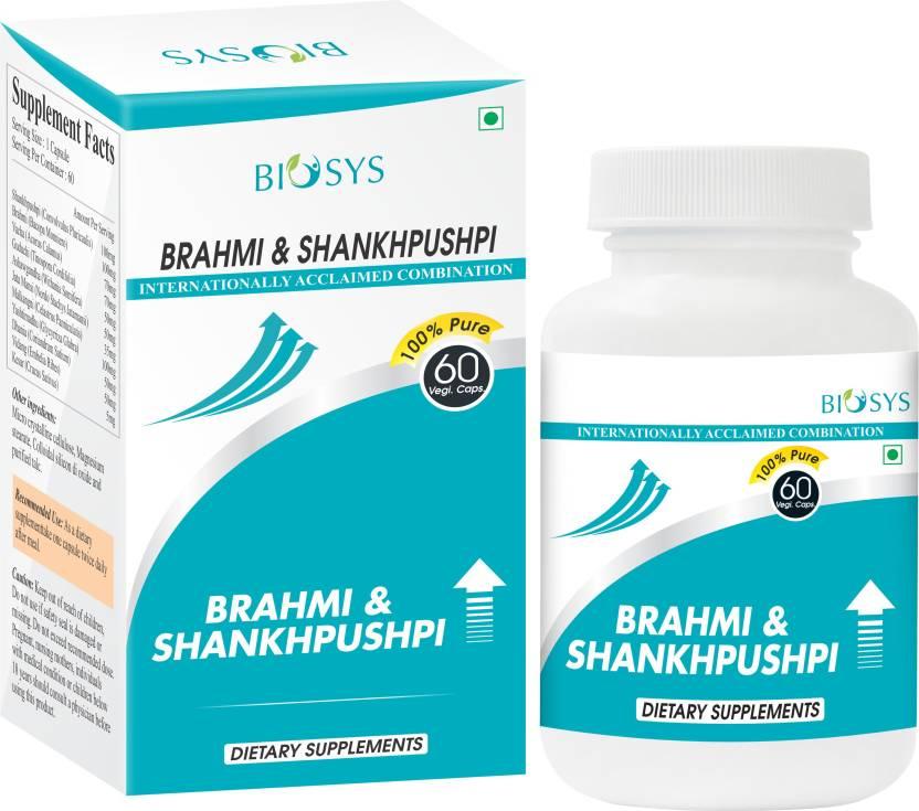 Biosys Brahmi Shankhpushpi Aid In Increasing Memory Brain Power