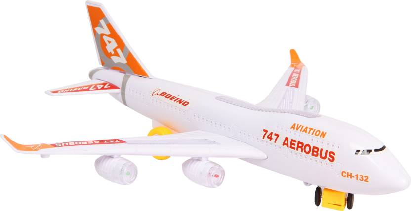 Toyvala Musical AeroPlane Airbus Bump & Go Action with Sound & Lighting Gift Toy ...