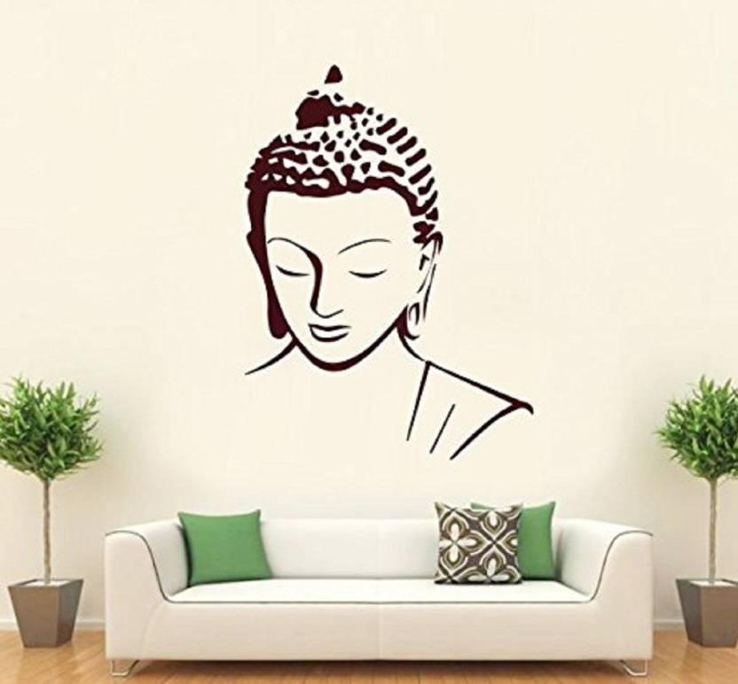 asmi collections medium beautiful brown god buddha sticker price in