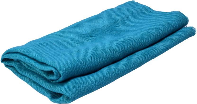 Vardhman Jute Cloth Sky Blue Ferozi Color 48 Inches Width