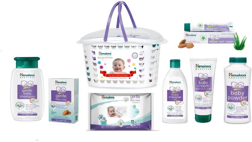 Himalaya Baby Gift Pack Basket  (White)
