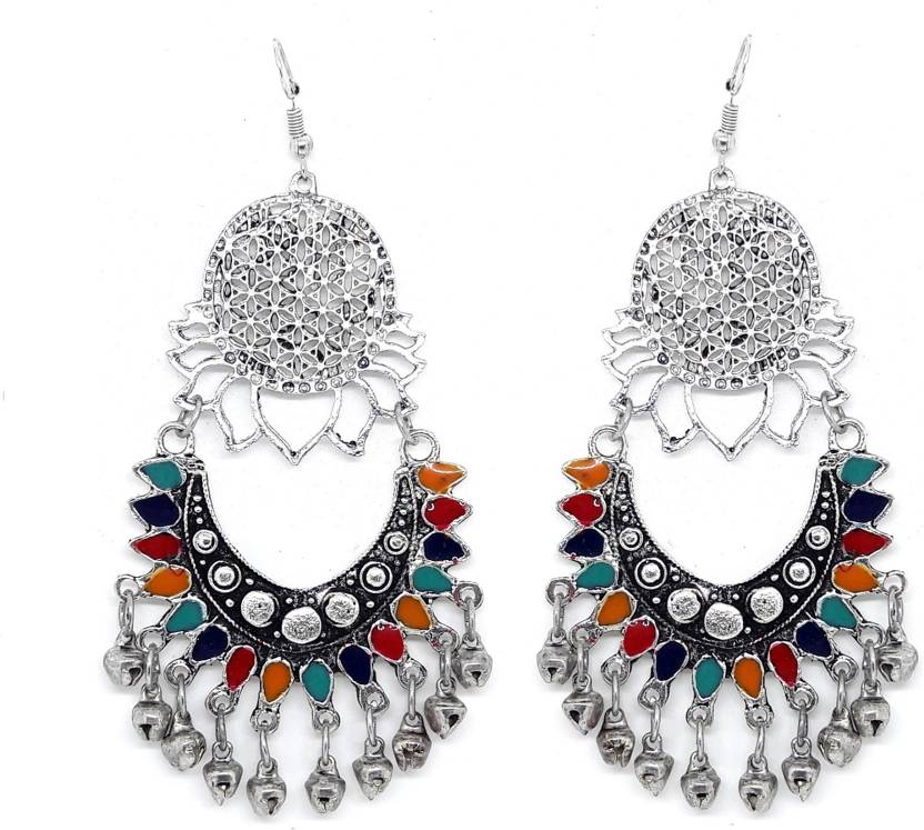 71fddce6e Tsquare Afgani Zoya Oxidized Antique Traditional Alloy Drops & Danglers