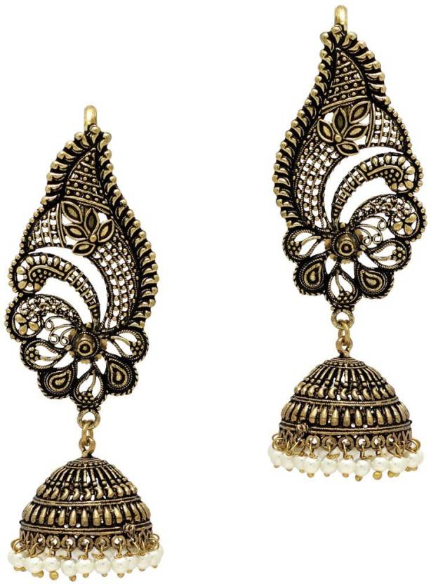 Flipkart.com - Buy Jaipur Mart Oxidised Gold Plated Ear Cuff ...