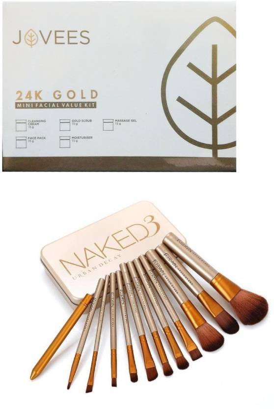Jovees 24 K Gold Mini Facial Value Kit (75 G) with Naked Urban Decay
