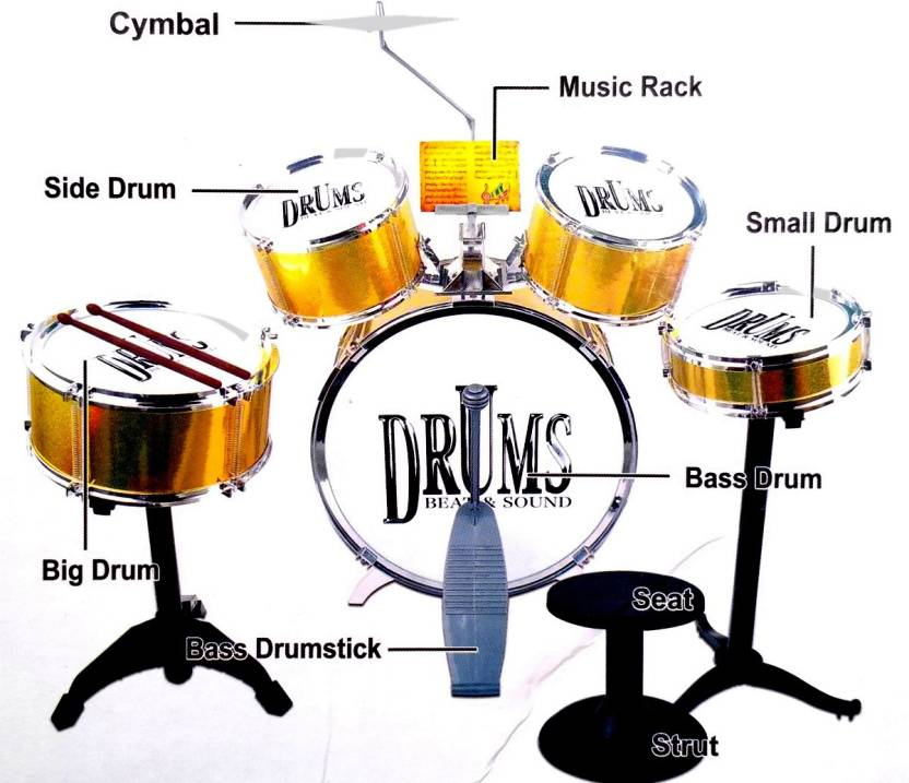Vshine Jazz Drum Set Big Size 26 Piece Musical Toy For Kids Jazz